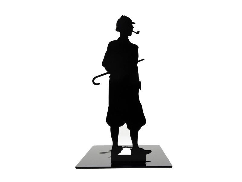 Cale Livres cale-livres en métal noir sherlock holmes - vente de shohan-design