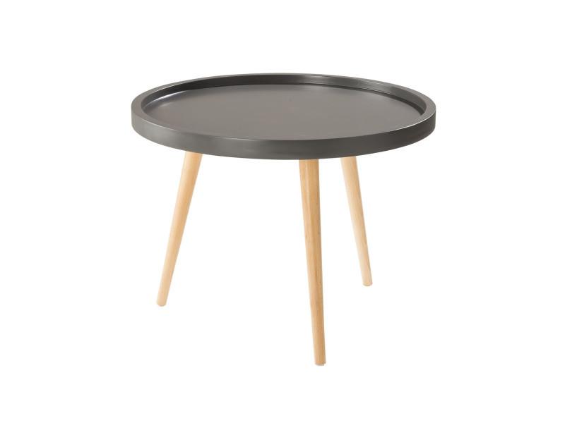 Nordic table basse pm gris bois