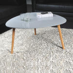 Table basse onyx 80x80cm / gris