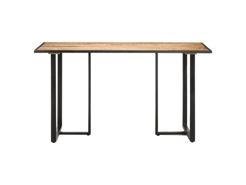 Vidaxl table de salle à manger 140 cm bois de manguier brut 320691