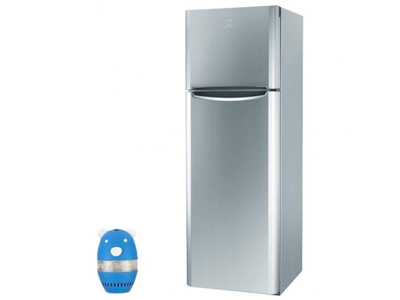 Réfrigérateur frigo double porte inox 305l a+ froid brassé hygiène control