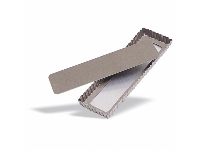 Moule à tarte rectangulaire fond amovible l 35 cm - pujadas - acier