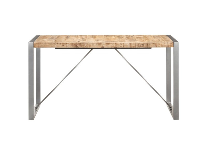 Vidaxl table à dîner 140x70x75 cm bois de manguier massif brut 321562