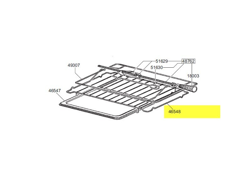 Grille inox de four suplementaire reference : 844090900