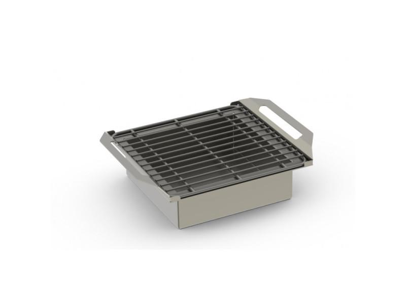 Grill charbon de bois en inox - 300 x 300 - grill'chic