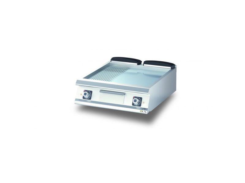 Plancha electrique 1/3 rainurée chromée diamante 90 - 600 à 1200 mm - olis - chromé 800 mm