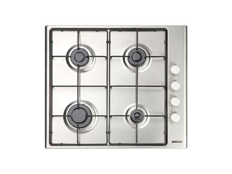 Plaque au gaz à 4 feux 60 cm acier inoxydable - plaque de cuisson haute qualité