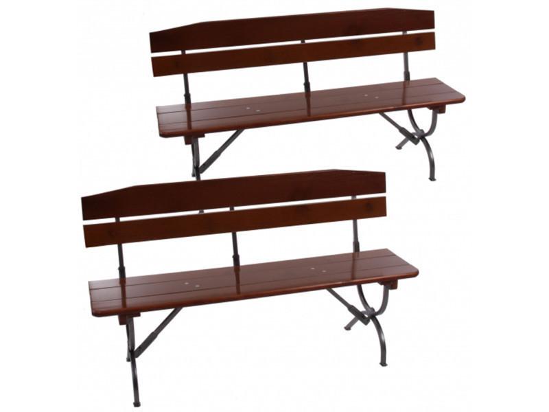 Lot de 2 bancs pour table de jardin linz 180 cm -pegane-