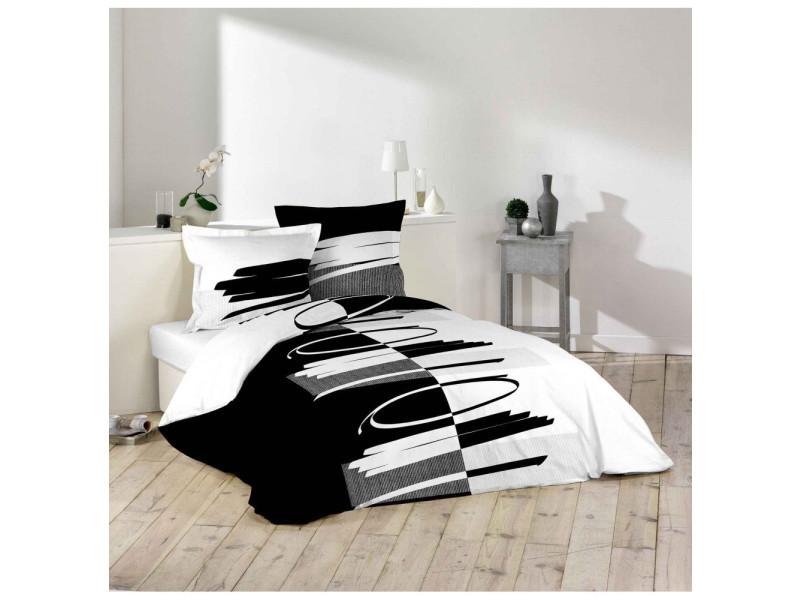 parure housse de couette 260 x 220 cm versus vente de parure de lit 1 personne conforama. Black Bedroom Furniture Sets. Home Design Ideas