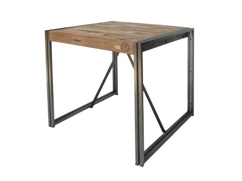 Table mange debout 100 cm² - industry - l 100 x l 100 x h 110 - neuf