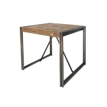table mange debout 100 cm industry l 100 x l 100 x h 110 neuf vente de tousmesmeubles. Black Bedroom Furniture Sets. Home Design Ideas