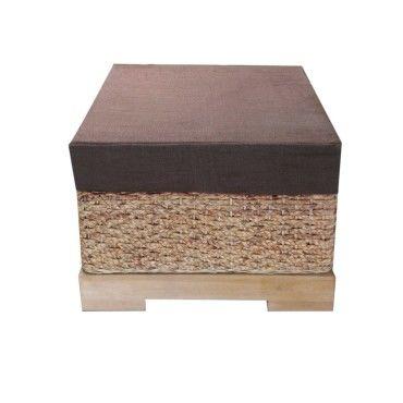 pouf cologique en fibres naturelles bois et tissu bio authentic vente de onature conforama. Black Bedroom Furniture Sets. Home Design Ideas
