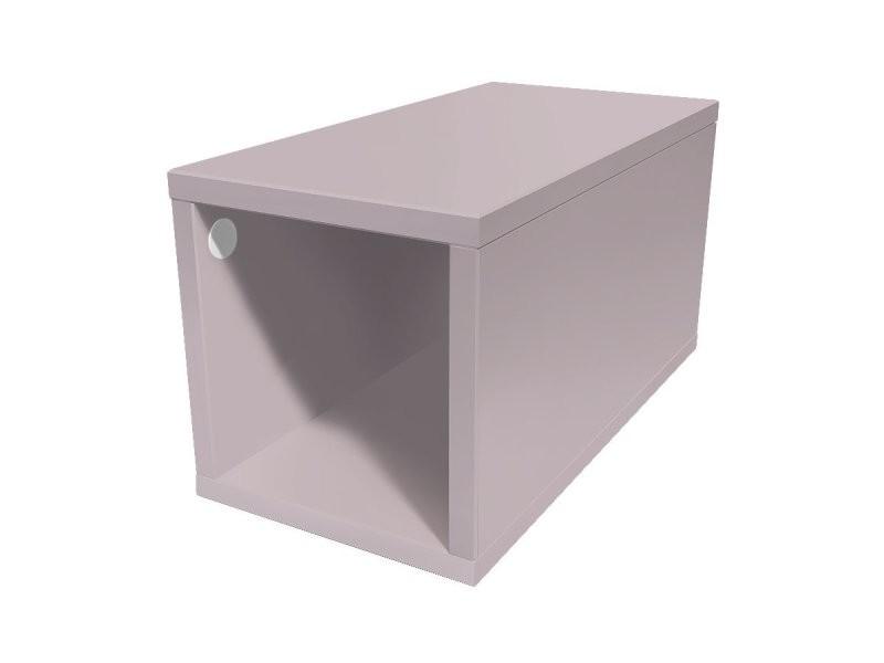 Cube de rangement bois 25x50 cm 25x50 violet pastel CUBE25-ViP