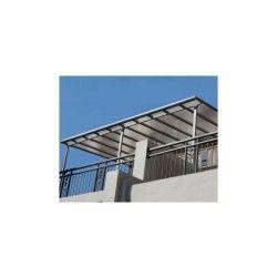 Toit de terrasse 3x4,2m aluminium anthracite et polycarbonate habrita
