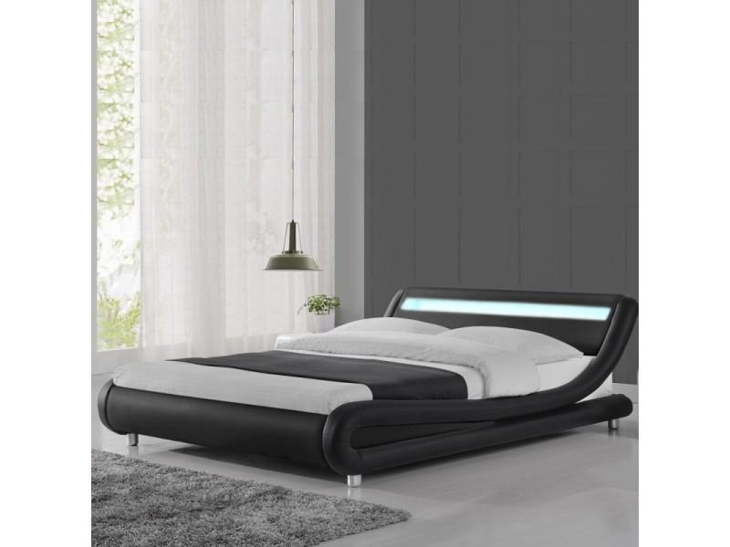 Lit led design julio - noir - 140x190
