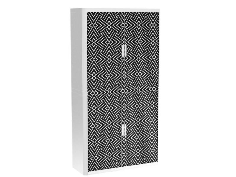Armoire de bureau métalique porte coulissante h 2m - adversus