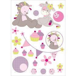 Stickers décoratifs Nattou modèle Manon & Alizée