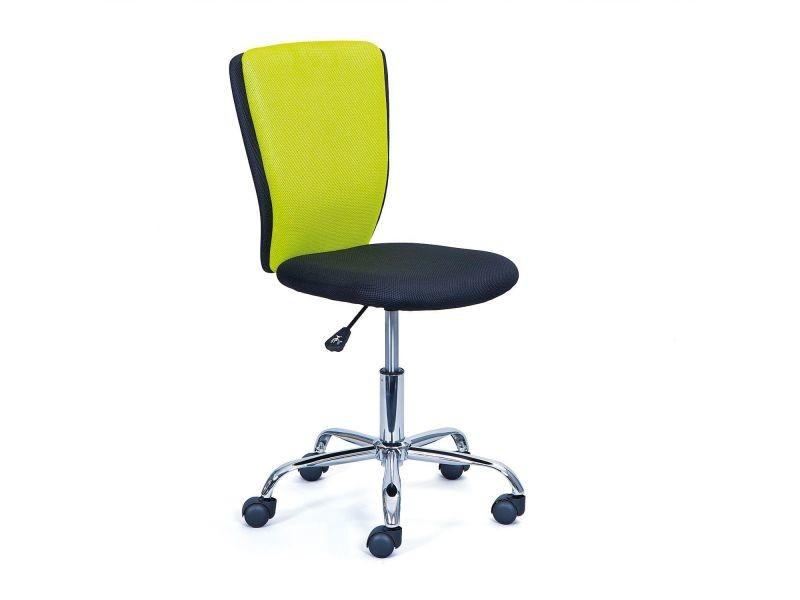 Chaise De Bureau Enfant Coloris Noir Et Vert