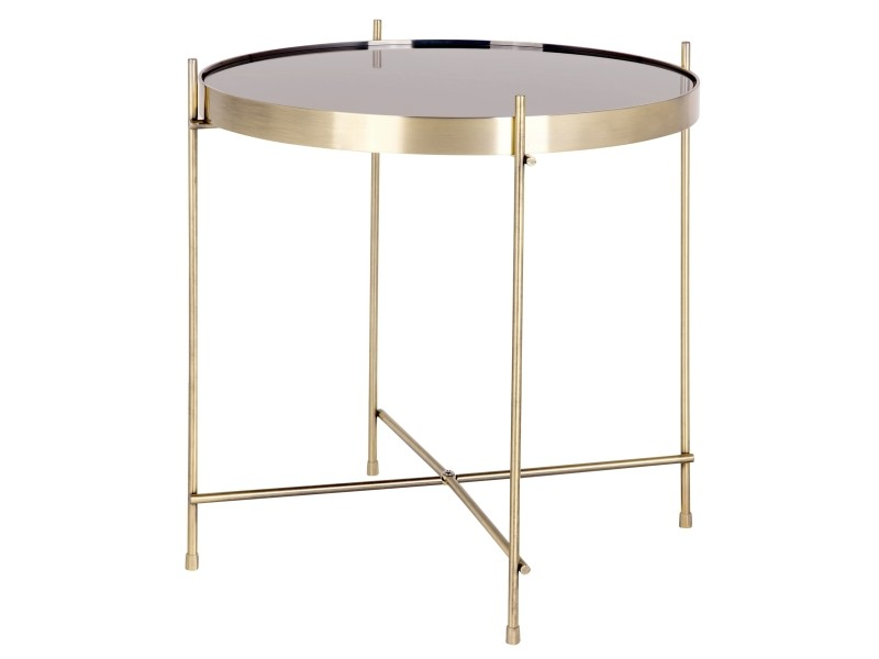 Table basse ronde valdo or s conforama - Table basse ronde conforama ...