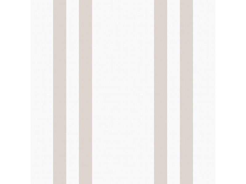 Papier peint intissé rayures basic 1005 x 52cm blanc, taupe 32-561