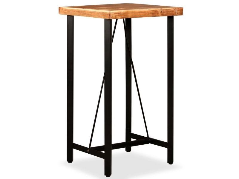 Distingué tables categorie porto-novo table de bar bois massif de sesham 60 x 60 x 107 cm