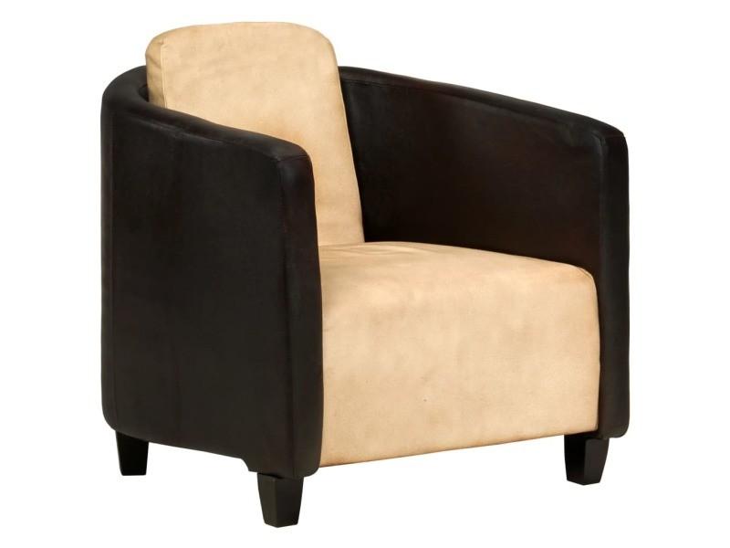 Icaverne fauteuils collection fauteuil brun roux et noir