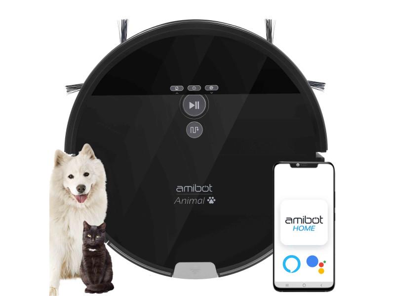Amibot animal xl h2o connect - robots aspirateurs et laveurs connecté ios/android spécial poils d'animaux AMIBOT Animal XL H2O Connect