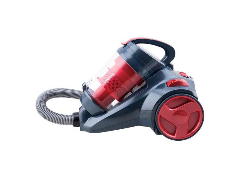 H.koenig slx910 aspirateur silencieux power & clean rouge