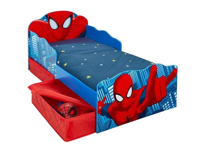 Lit Enfant Spiderman Marvel Design Tiroirs De Rangement Tete