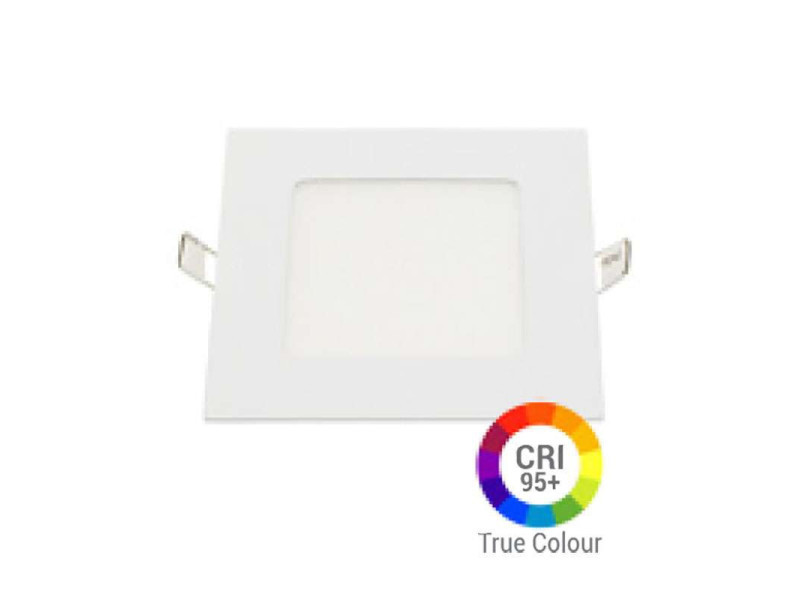 Plafonnier led carré 6w extra plat encastrable irc95 - blanc naturel 4200k DL2615