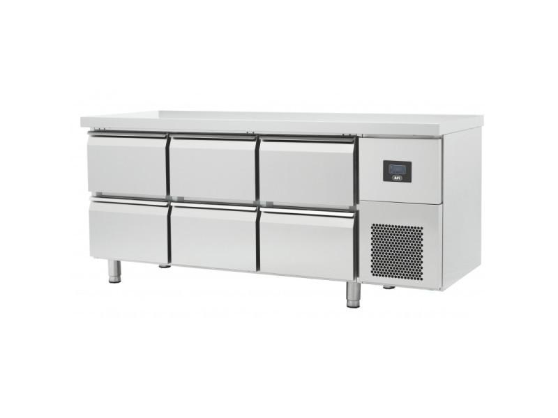 Table réfrigérée négative gamme gn 1/1 - 4 à 8 tiroirs - afi collin lucy - r290 457 litres