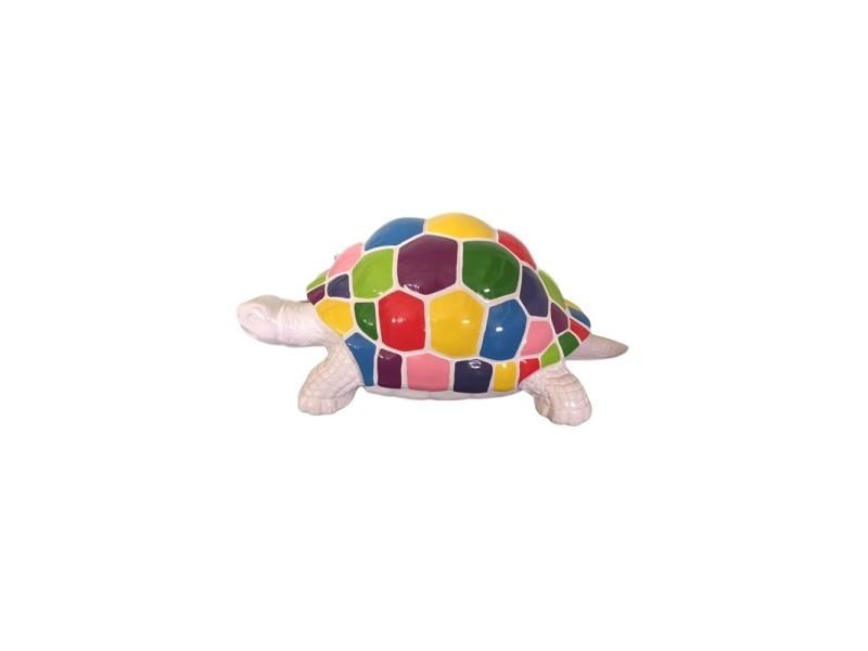 Superbe statue sculpture tortue colori multicolore 110cm neuf ...