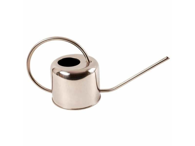 Arrosoir en inox couleur argent 1 litre