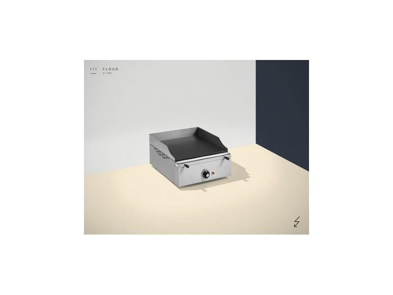 Plancha électrique colorée - 1 résistance - 400 x 400 x 226 mm - 10 mm d'épaisseur - pinha 2 - anthracite acier émaillé