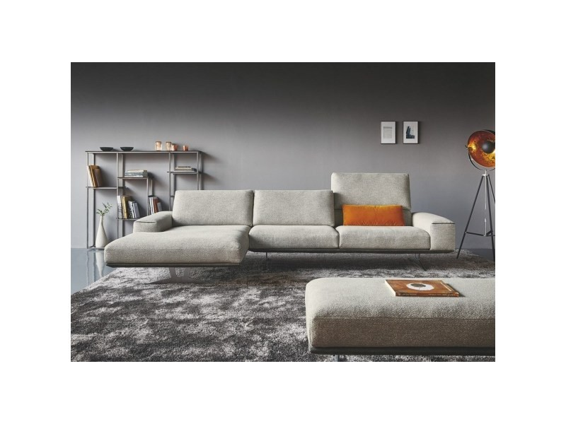 Canapé angle chaise longue large charles brown