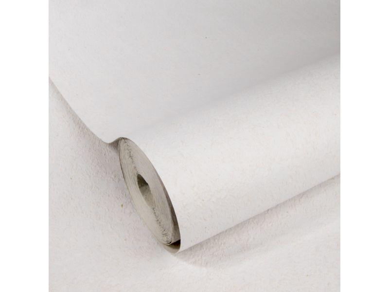 Papier peint intissé rugueux uni 1005 x 52cm blanc 5673562