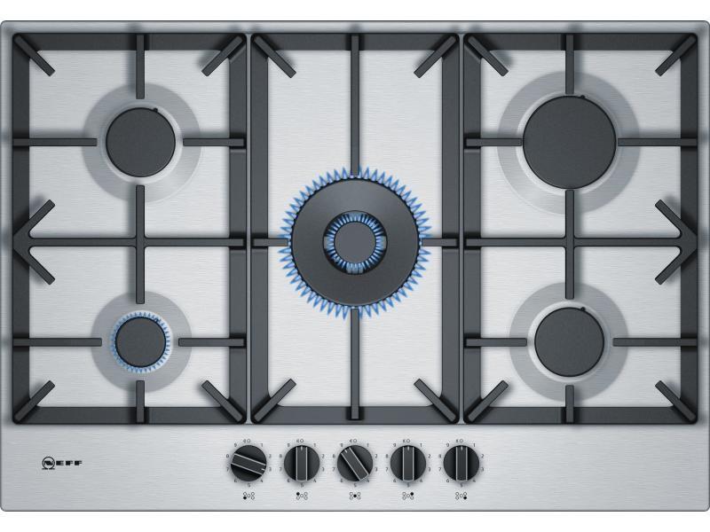 Table de cuisson à gaz 75cm 5 feux inox - t27ds59n0 NEF4242004203506