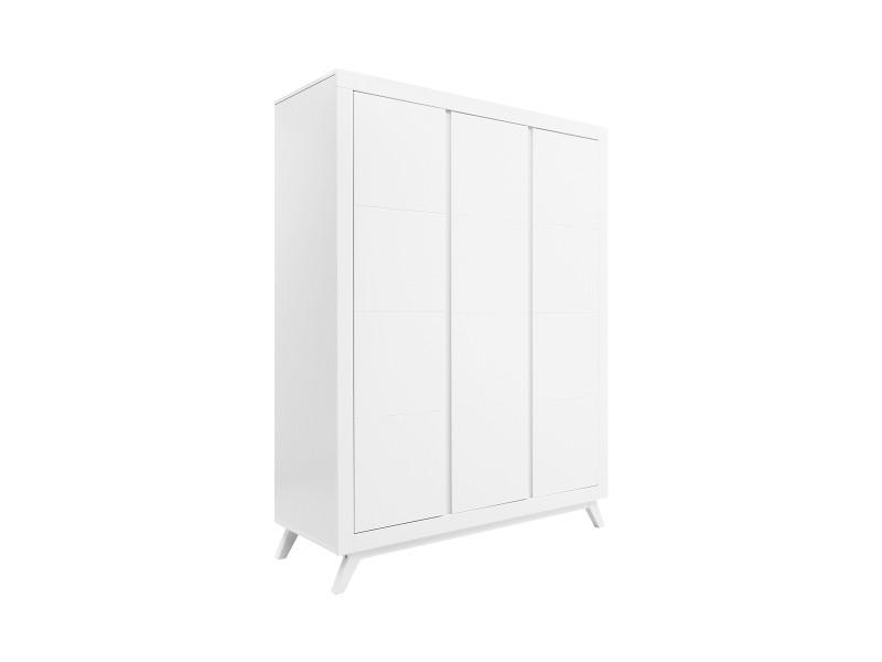 Armoire 3 portes anne - blanc