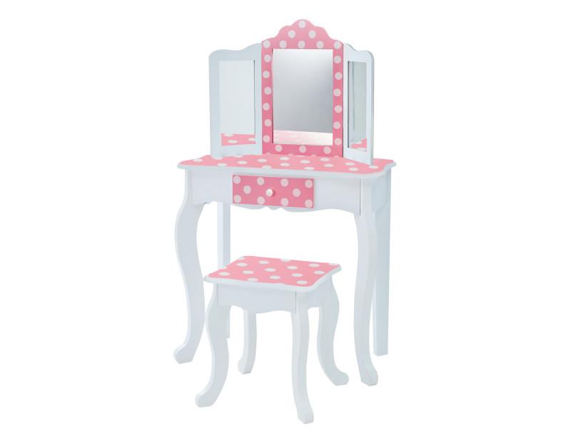 Coiffeuse Enfant Teamson Bois Table Maquillage Miroir