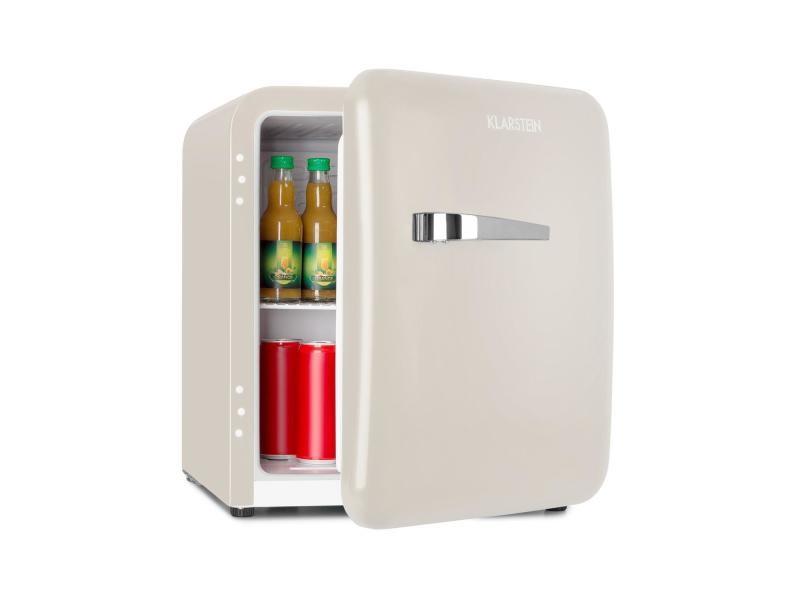 Klarstein audrey mini réfrigérateur à boissons 48 litres - classe a+ - design rétro crème HEA13-Audrey s 46R