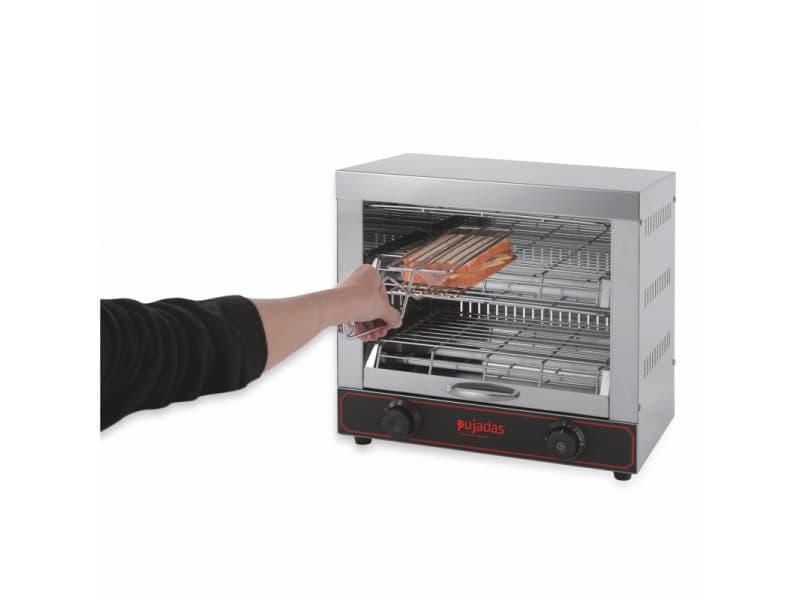 Toaster professionnel avec 6 pinces à sandwich 3 kw - pujadas -