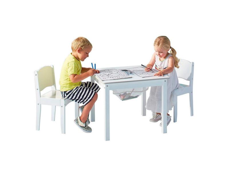 Ensemble Table De Jeu Enfant Avec Rangement Et 2 Chaises Enfant Blanche Vente De Chaise Et Fauteuil Enfant Conforama