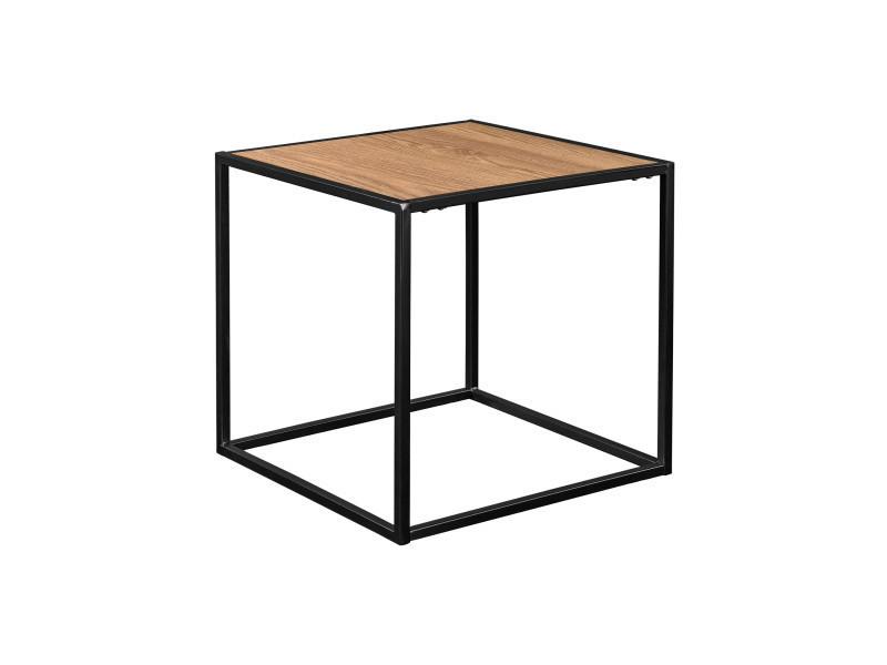 En Casa Table D Appoint Table De Salon Bois Métal Table Table De
