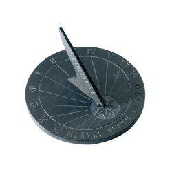 Cadran solaire en schiste diamètre 25 cm