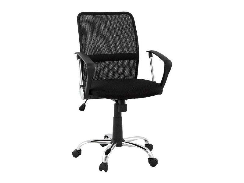 Fauteuil de bureau harvard black 58x60x102 cm vente de design dun