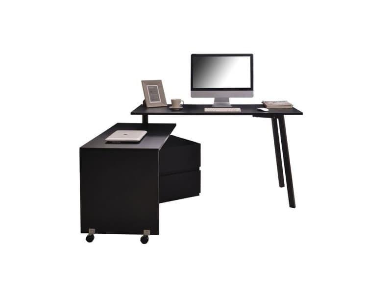 Bureau pivotant informatique blanc ou noir new york decome store
