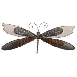 Libellule décorative en métal