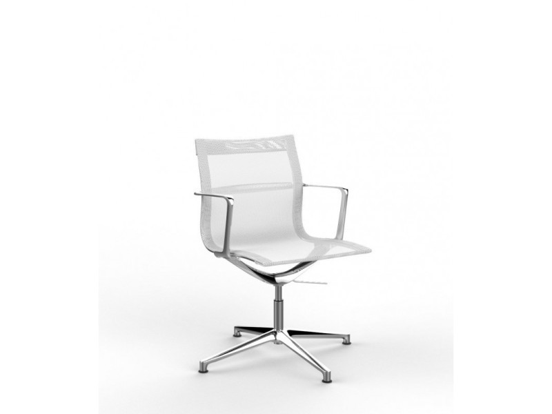 Fauteuil de direction design en tissu nolane ii / coloris : blanc