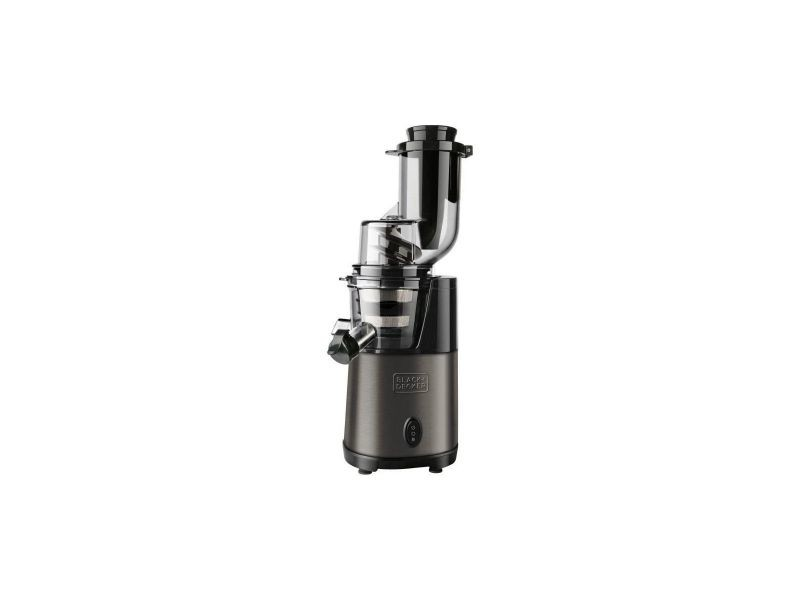 Black + decker bxje200e extracteur de jus 200 w - inox - 2 vitesses