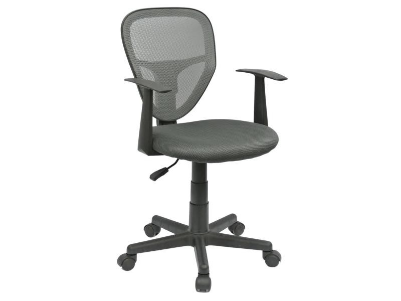 chaise de bureau pour enfant studio fauteuil pivotant et ergonomique avec accoudoirs sige roulettes avec hauteur rglable gris vente de idimex - Alinea Fauteuil Bureau2693